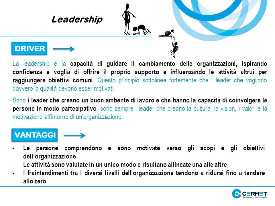 Leadership DRIVER VANTAGGI