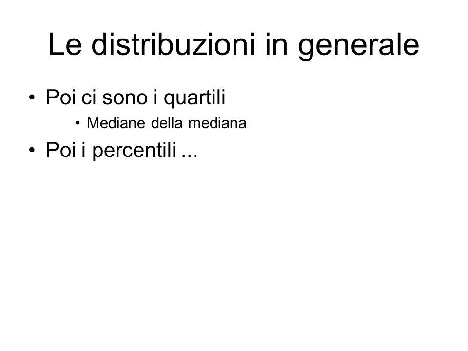 Le distribuzioni in generale