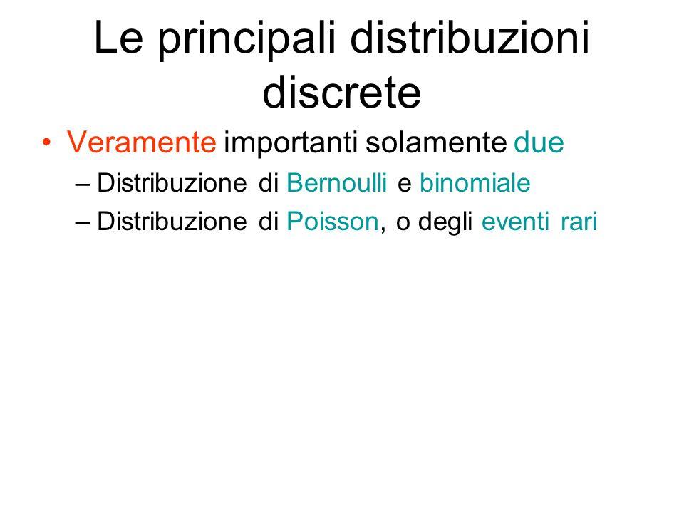 Le principali distribuzioni discrete