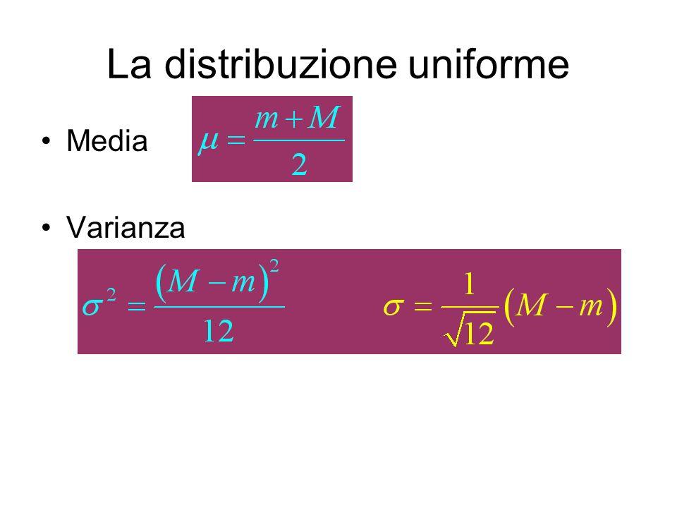 La distribuzione uniforme