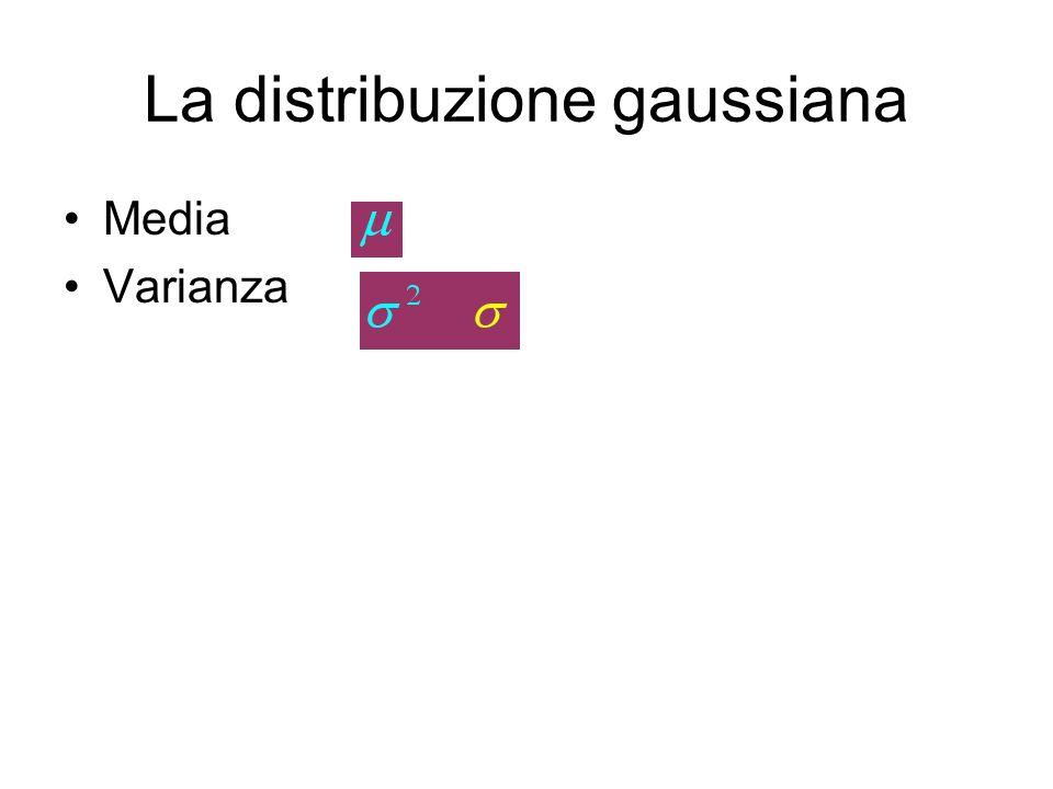 La distribuzione gaussiana
