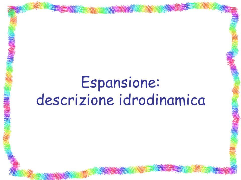 Espansione: descrizione idrodinamica