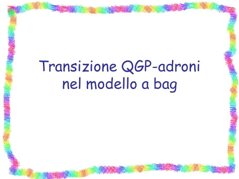 Transizione QGP-adroni nel modello a bag