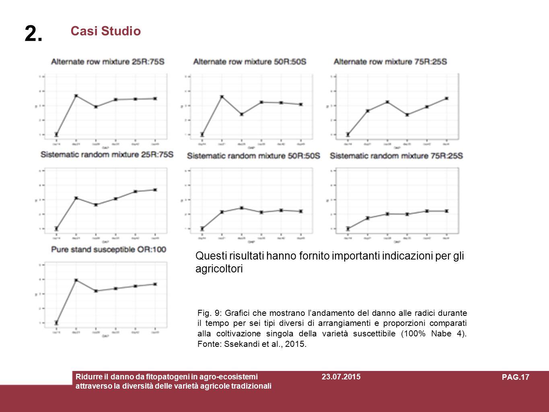 2. Casi Studio. Questi risultati hanno fornito importanti indicazioni per gliagricoltori.