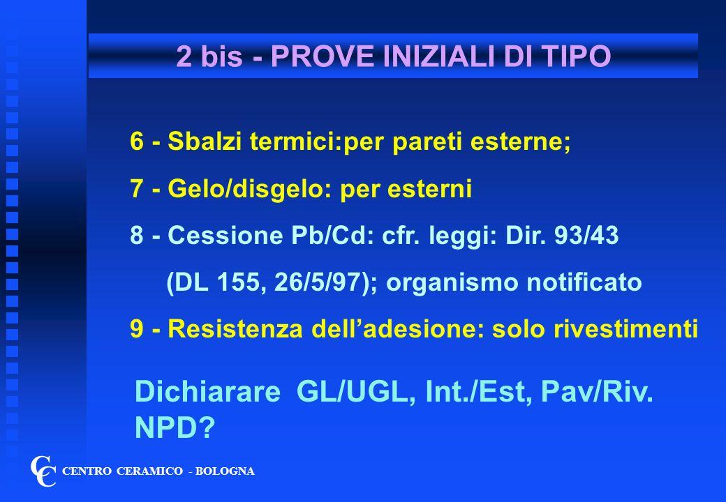 2 bis - PROVE INIZIALI DI TIPO