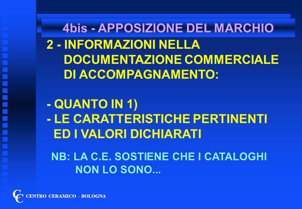 4bis - APPOSIZIONE DEL MARCHIO