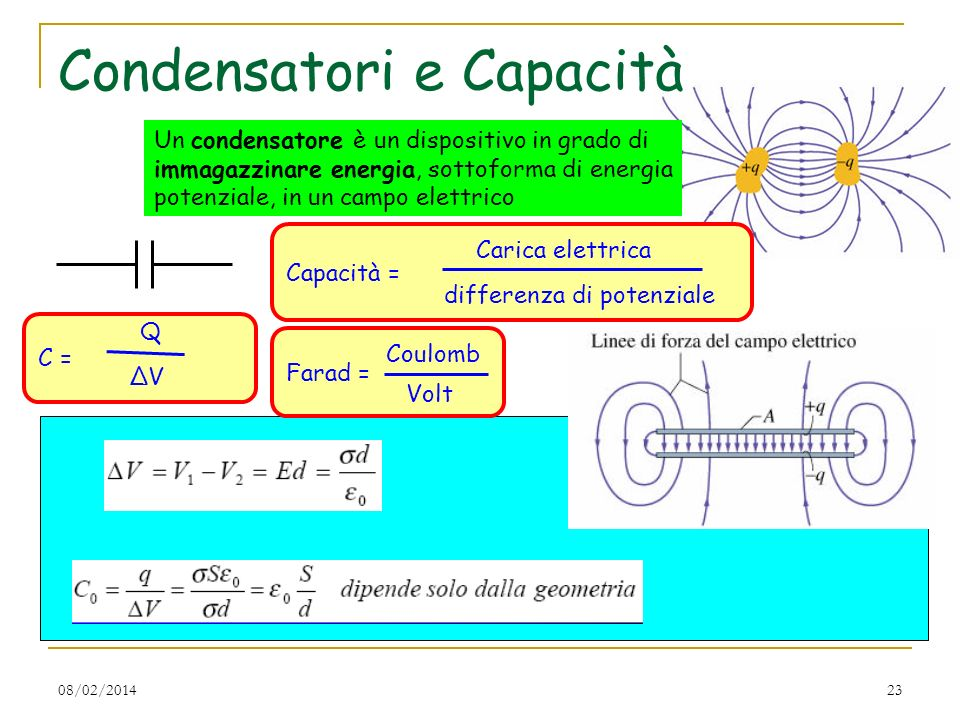 Condensatori e Capacità