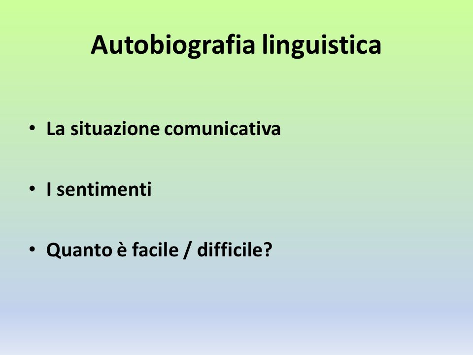 Autobiografia linguistica