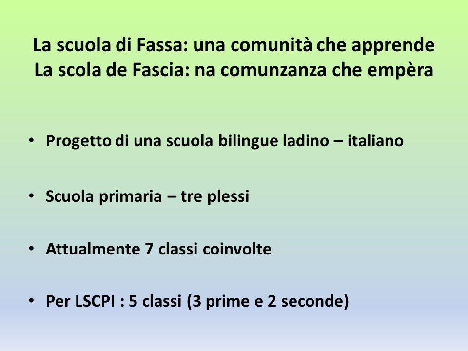 La scuola di Fassa: una comunità che apprende La scola de Fascia: na comunzanza che empèra