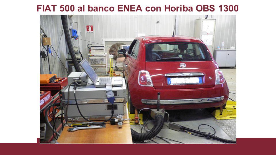 FIAT 500 al banco ENEA con Horiba OBS 1300