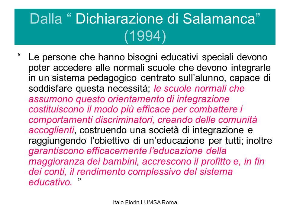 Dalla Dichiarazione di Salamanca (1994)