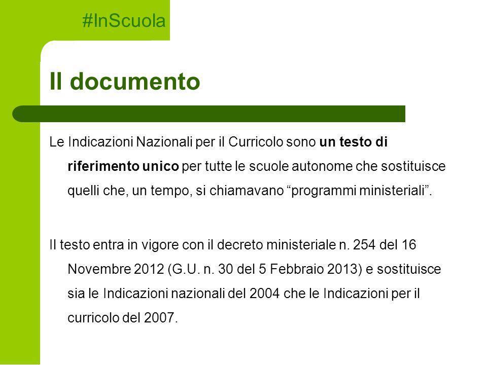 Il documento #InScuola