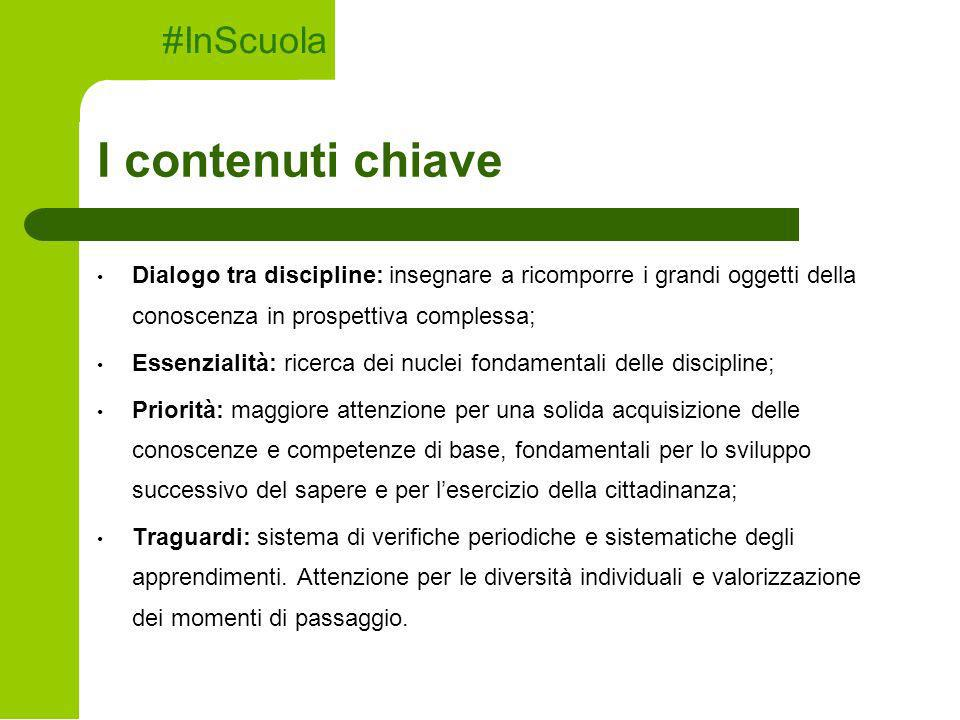 I contenuti chiave #InScuola