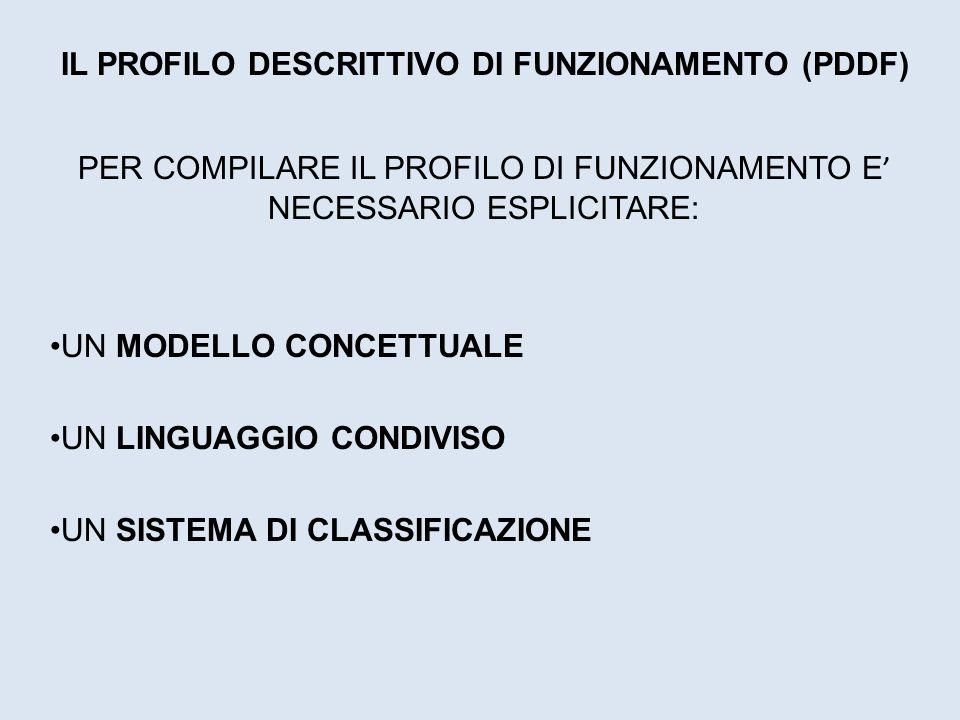 IL PROFILO DESCRITTIVO DI FUNZIONAMENTO (PDDF)