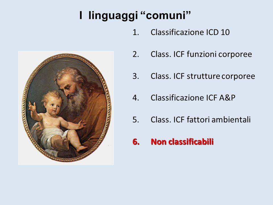 I linguaggi comuni Classificazione ICD 10