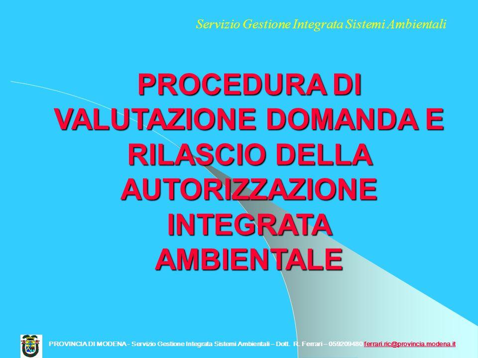 Servizio Gestione Integrata Sistemi Ambientali