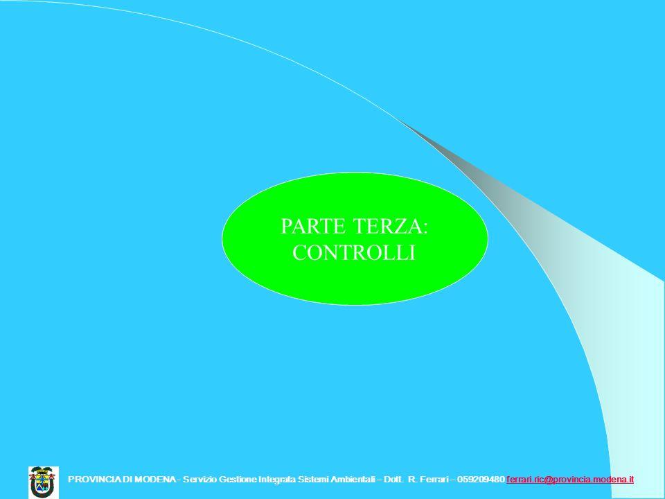 PARTE TERZA: CONTROLLI