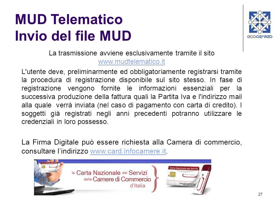 MUD Telematico Invio del file MUD