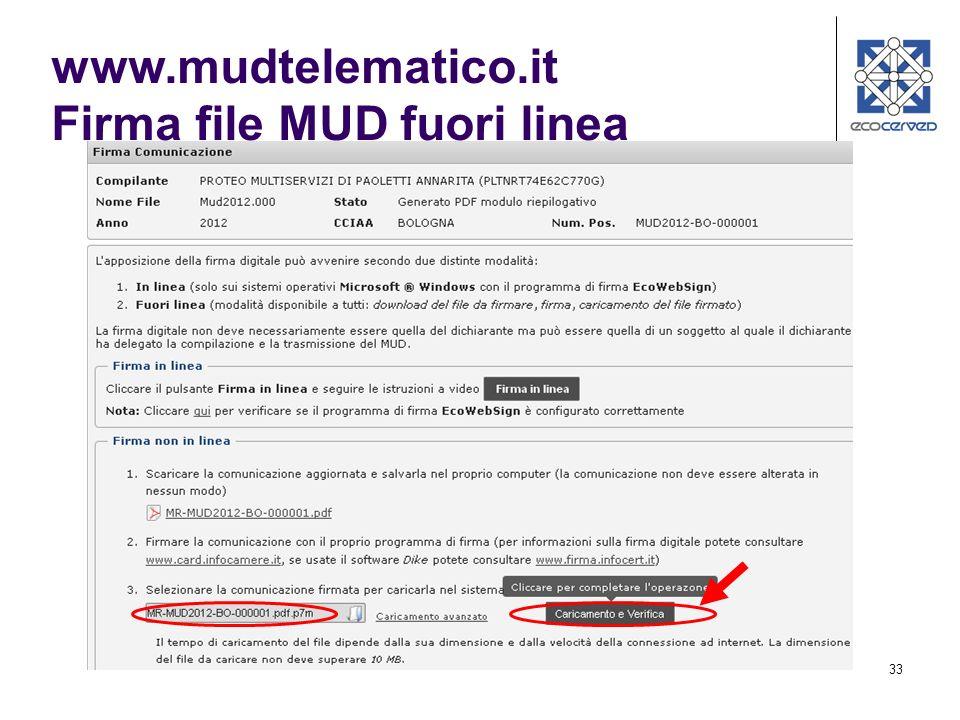 www.mudtelematico.it Firma file MUD fuori linea