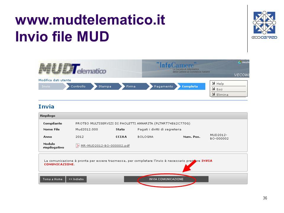 www.mudtelematico.it Invio file MUD