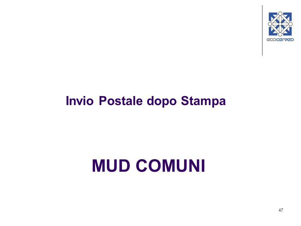 Invio Postale dopo Stampa