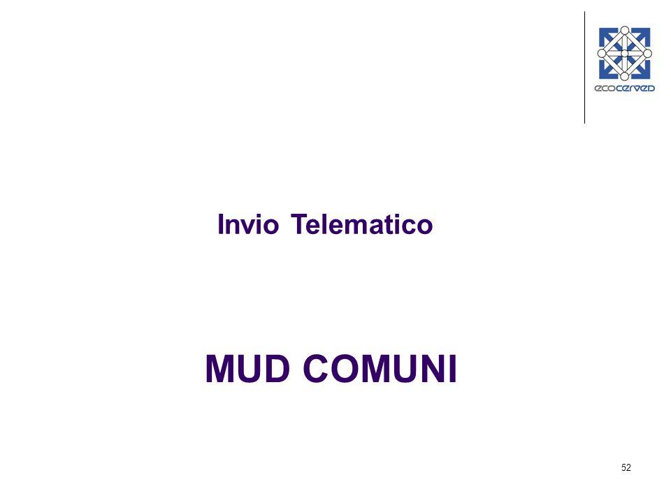 Invio Telematico MUD COMUNI