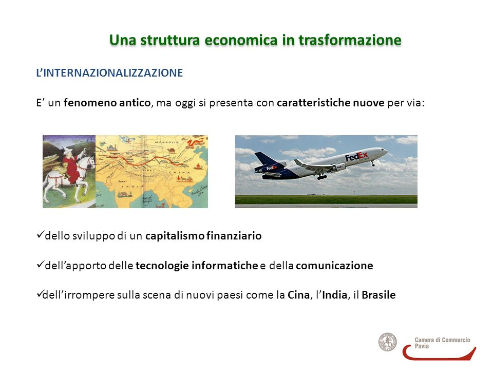 Una struttura economica in trasformazione