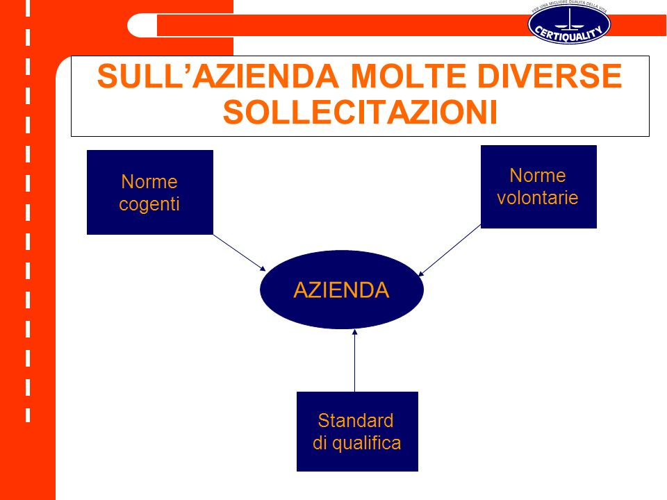 SULL'AZIENDA MOLTE DIVERSE SOLLECITAZIONI