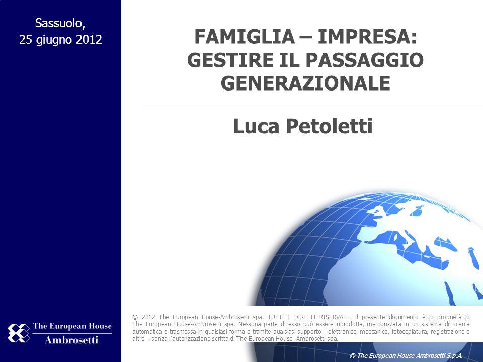 FAMIGLIA – IMPRESA: GESTIRE IL PASSAGGIO GENERAZIONALE
