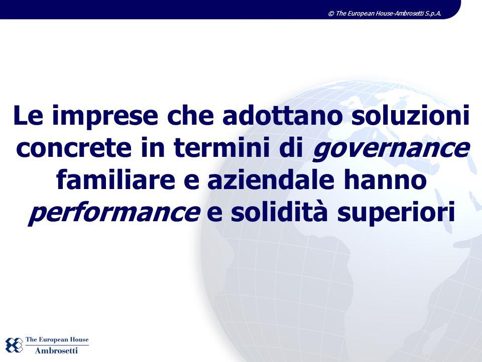 Le imprese che adottano soluzioni concrete in termini di governance familiare e aziendale hanno performance e solidità superiori