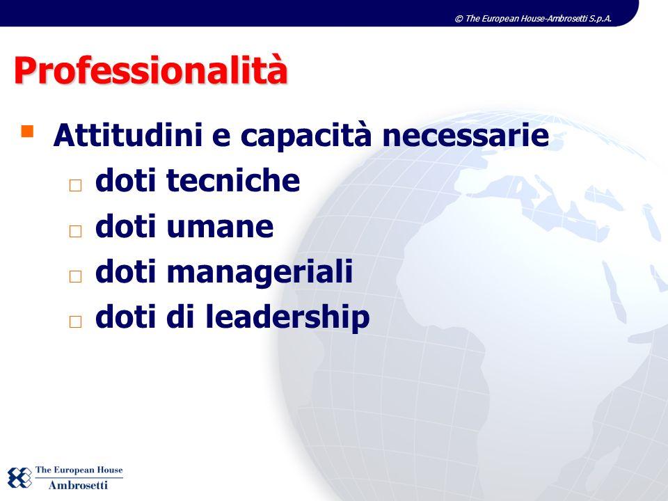 Professionalità Attitudini e capacità necessarie doti tecniche