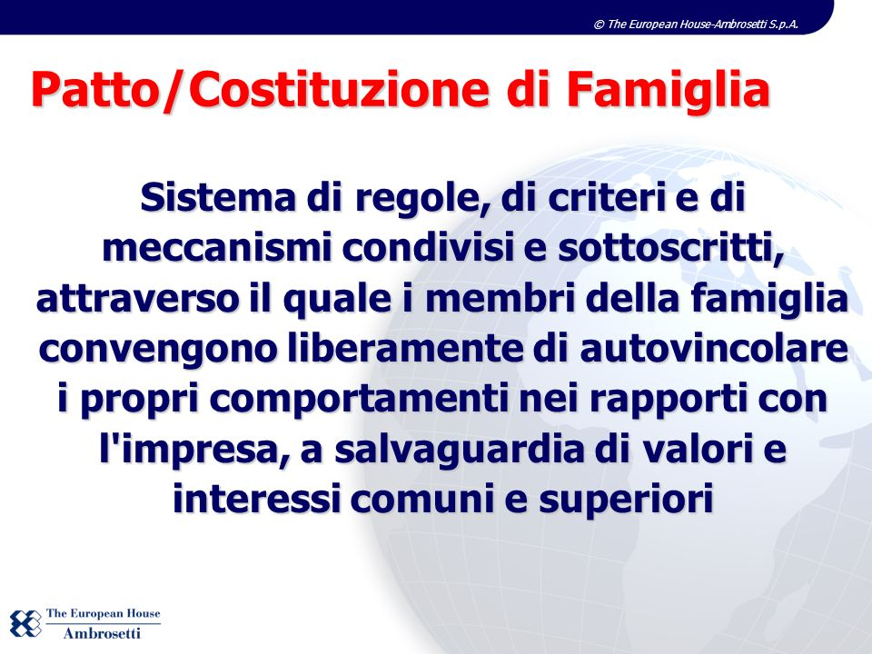 Patto/Costituzione di Famiglia