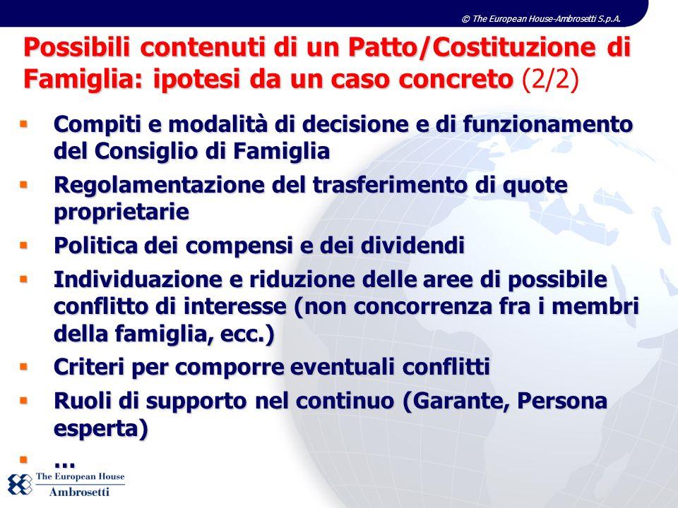 Possibili contenuti di un Patto/Costituzione di Famiglia: ipotesi da un caso concreto (2/2)