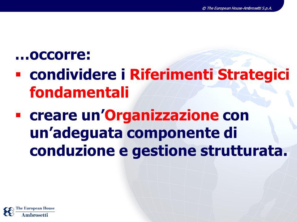 …occorre:condividere i Riferimenti Strategici fondamentali.