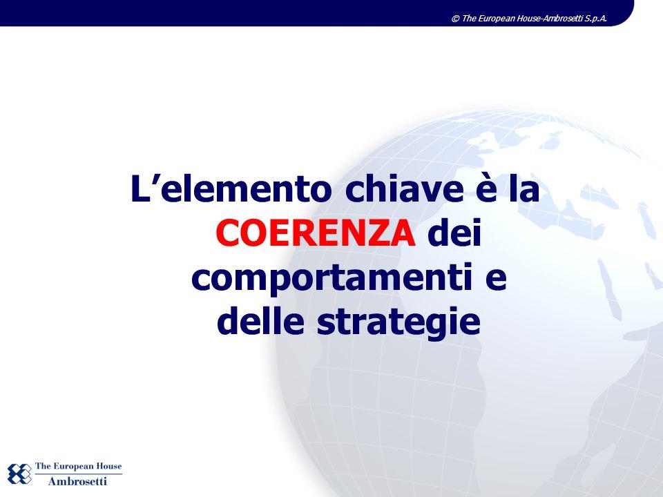 L'elemento chiave è la COERENZA dei comportamenti e delle strategie