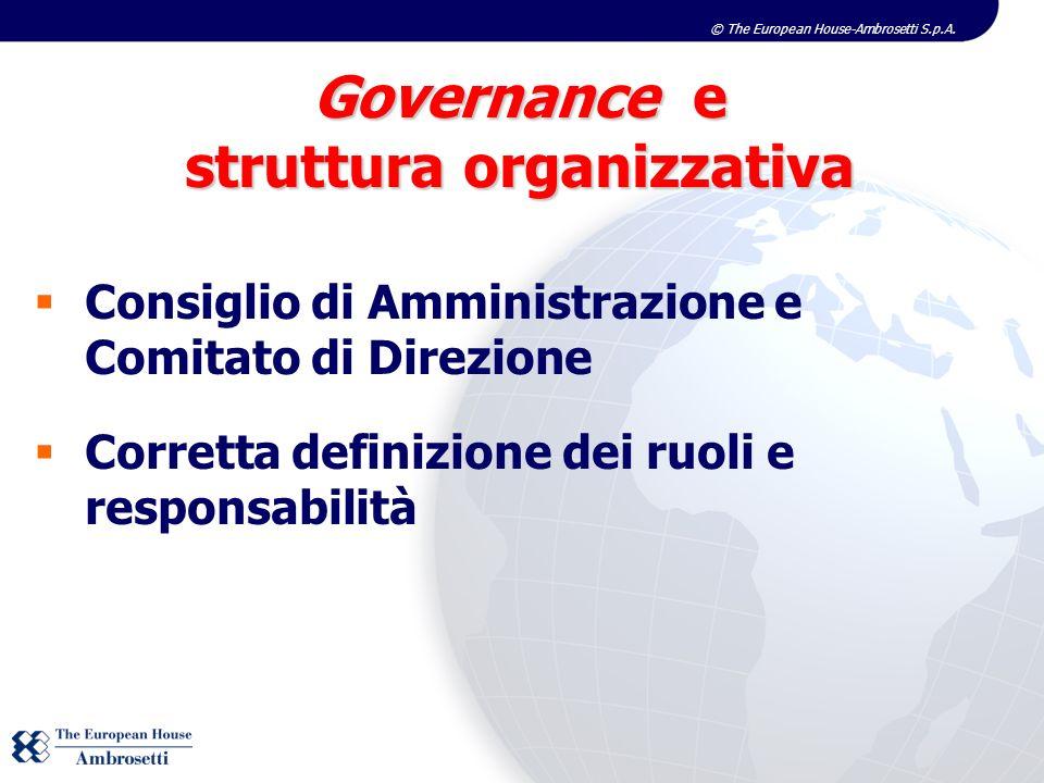 Governance e struttura organizzativa