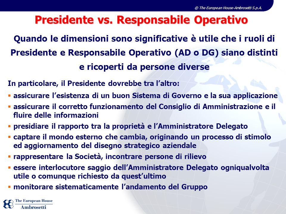 Presidente vs. Responsabile Operativo