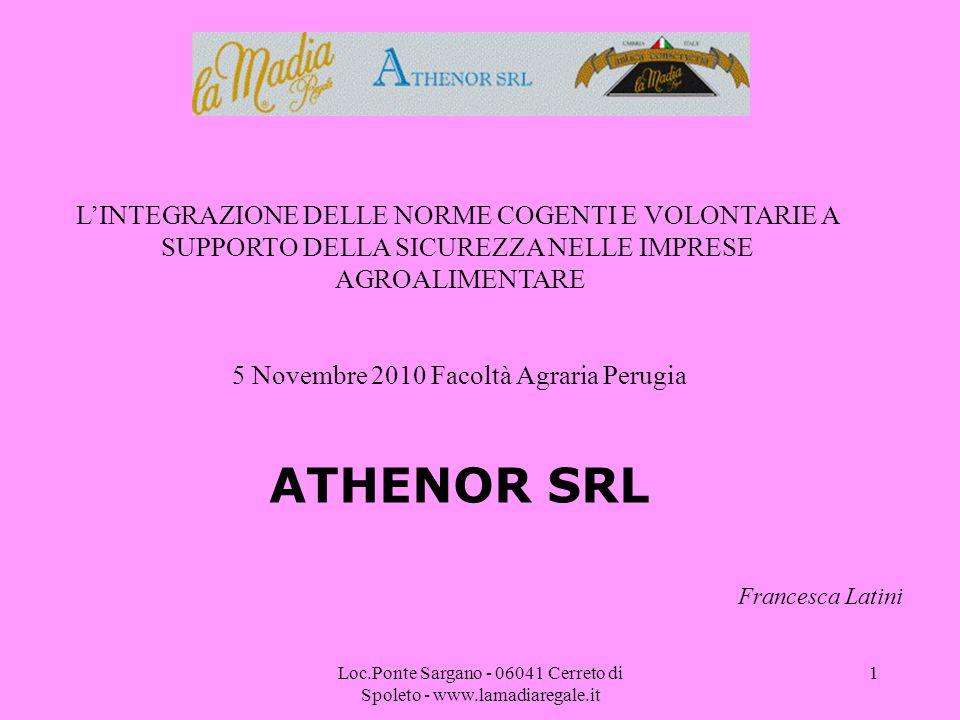 ATHENOR SRL L'INTEGRAZIONE DELLE NORME COGENTI E VOLONTARIE A
