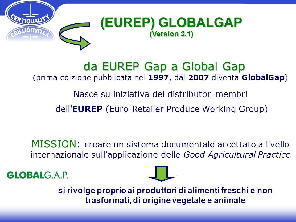 (EUREP) GLOBALGAP da EUREP Gap a Global Gap