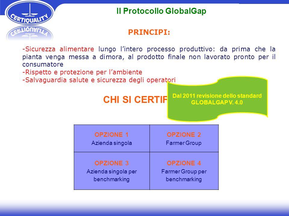 Il Protocollo GlobalGap Dal 2011 revisione dello standard