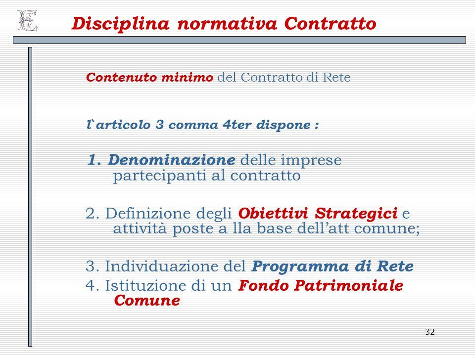 Disciplina normativa Contratto