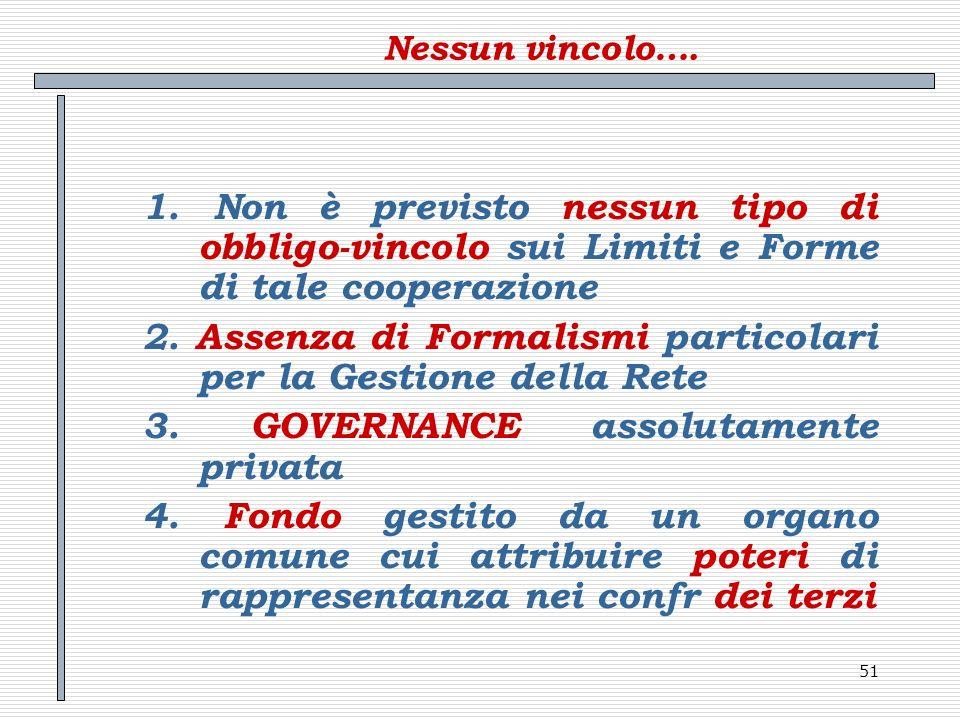 2. Assenza di Formalismi particolari per la Gestione della Rete