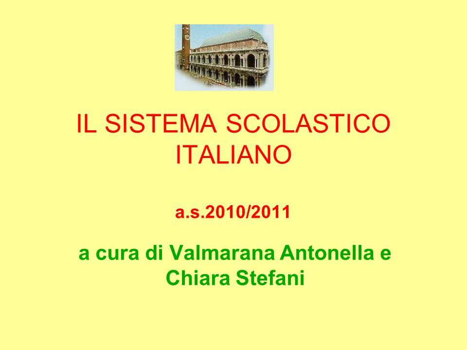 IL SISTEMA SCOLASTICO ITALIANO a.s.2010/2011
