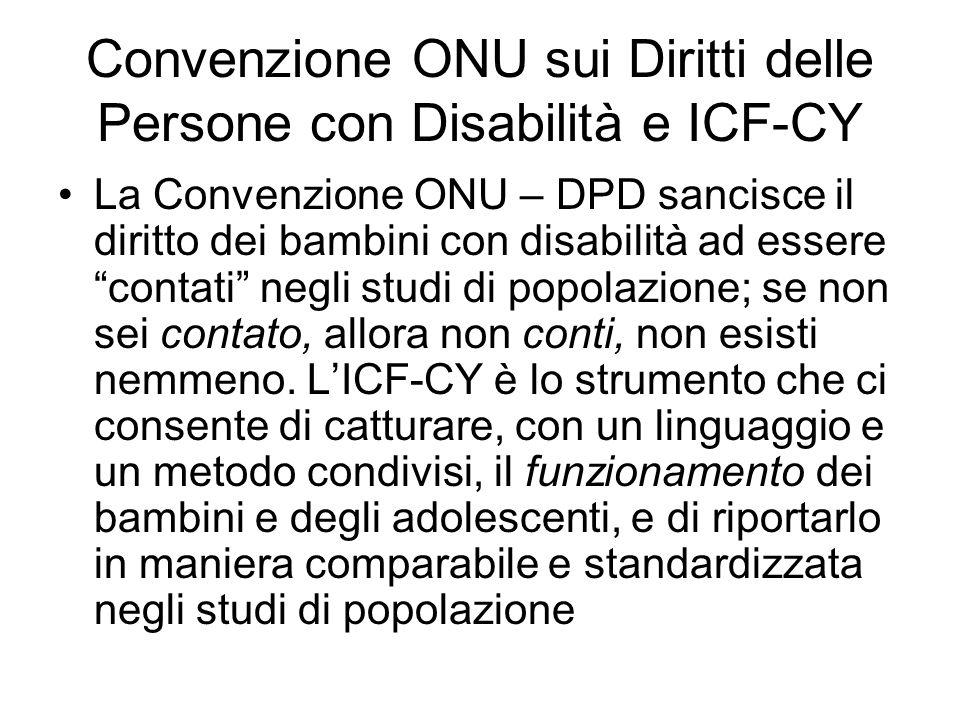 Convenzione ONU sui Diritti delle Persone con Disabilità e ICF-CY