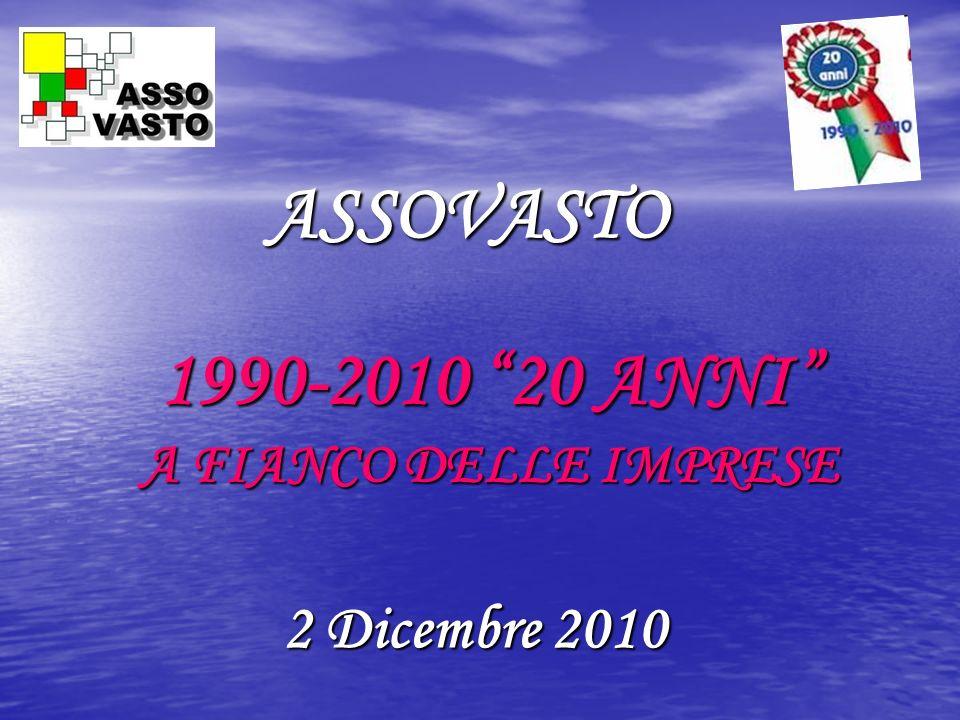ASSOVASTO 1990-2010 20 ANNI A FIANCO DELLE IMPRESE 2 Dicembre 2010