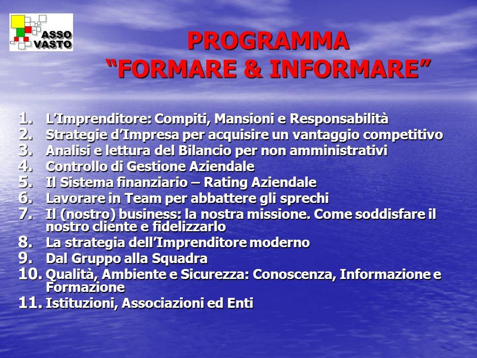 PROGRAMMA FORMARE & INFORMARE