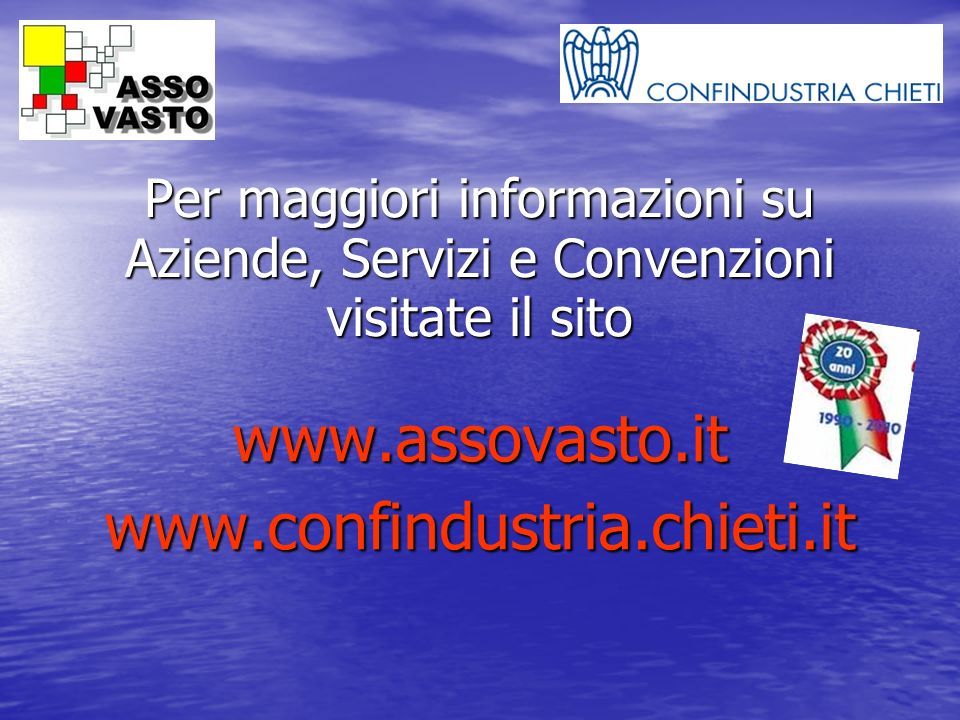 www.assovasto.it www.confindustria.chieti.it