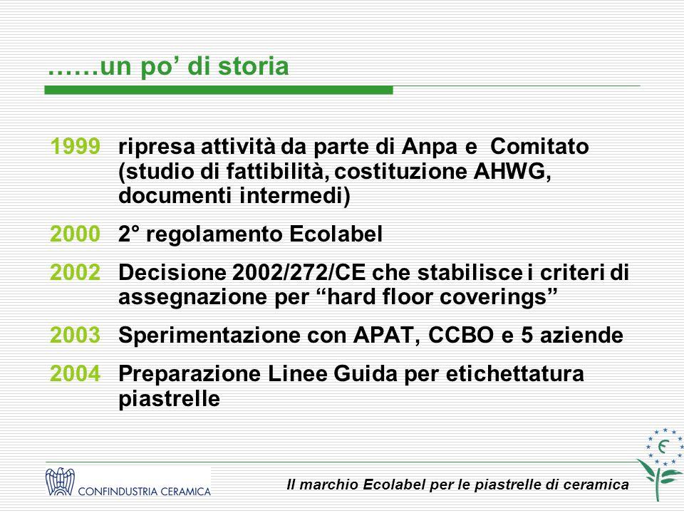 ……un po' di storia 1999 ripresa attività da parte di Anpa e Comitato (studio di fattibilità, costituzione AHWG, documenti intermedi)