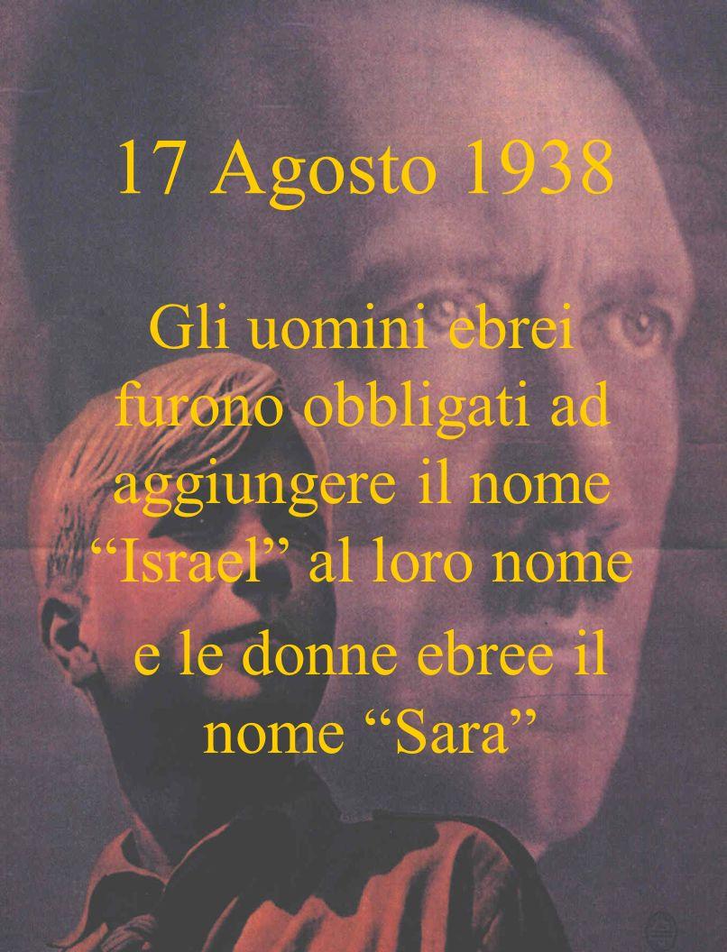 e le donne ebree il nome Sara