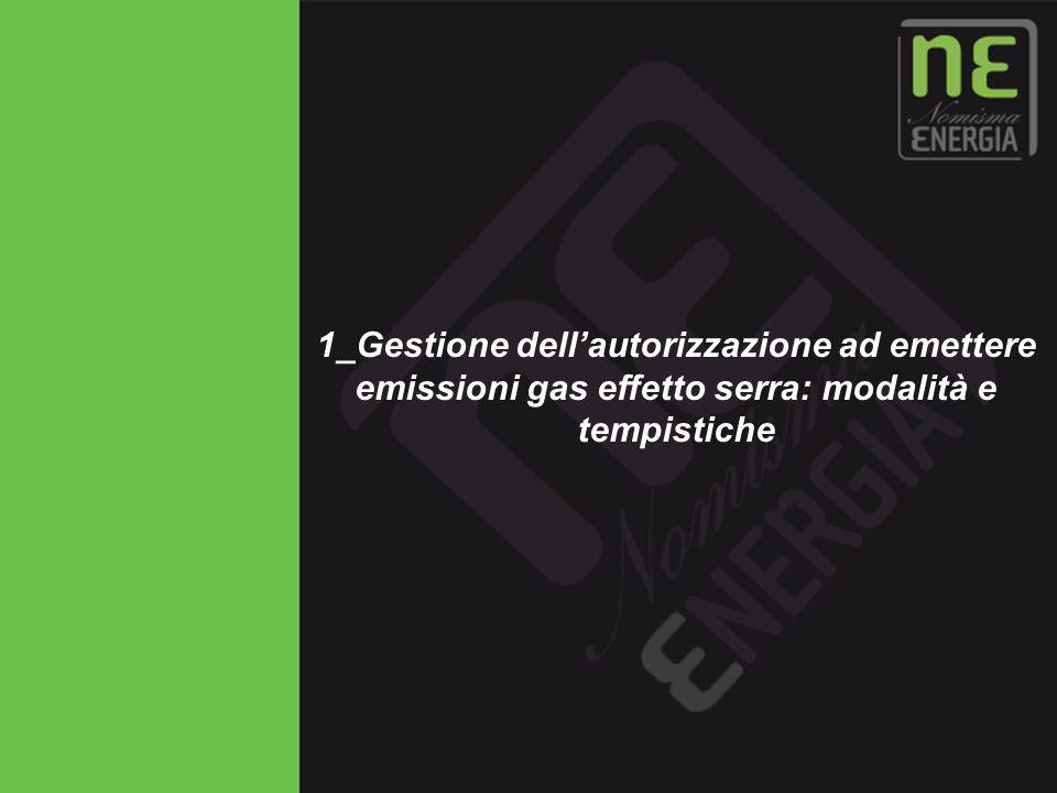 1_Gestione dell'autorizzazione ad emettere emissioni gas effetto serra: modalità e tempistiche